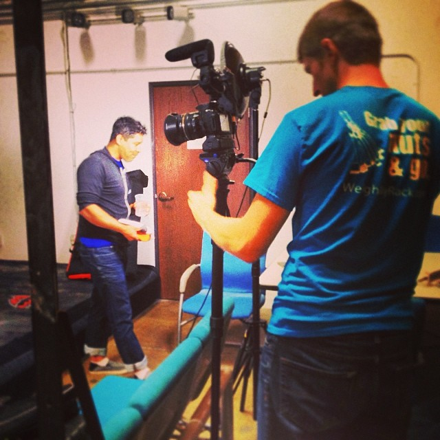 The WeighMyRack team in the studio putting together educational videos.